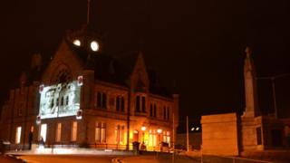 Lerwick Town Hall and War Memorial