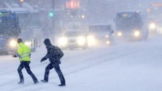 Helsinki in the snow