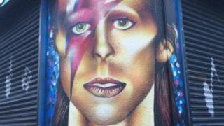 Mural of David Bowie