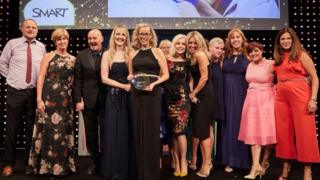 Seaview staff receive the award in London