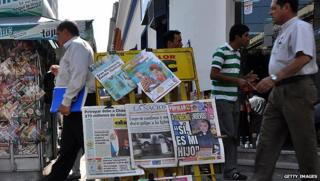 News stand in Paraguay