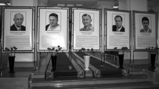 Погибшие сотрудники ВНИИЭФ: Владислав Яновский, Сергей Пичугин, Вячеслав Липшев, Евгений Коратаев, Алексей Вьюшин