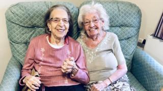 Kathleen Saville (right) and Olive Woodward (left)