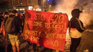 """Акция """"Добро пожаловать в ад"""" в Гамбурге"""