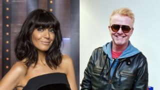 composite pic of Claudia Winkleman and Chris Evans