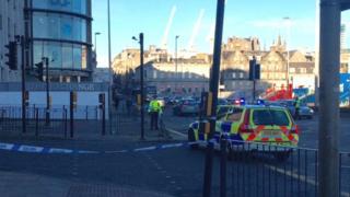Market Street crash scene