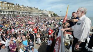 Jeremy Corbyn speaking in Ramsgate