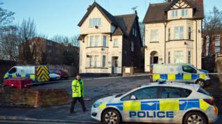 Scene of the crime in Crescent Road, Luton