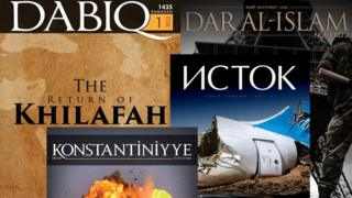 IS produces magazines in four languages: English, French, Russian and Turkish and Arabic