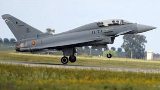 Испанский истребитель Eurofighter Typhoon