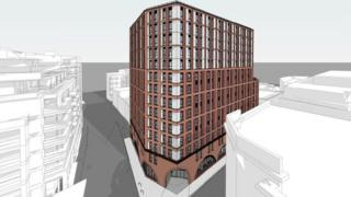 An artist's impression of the Redcliffe tower block