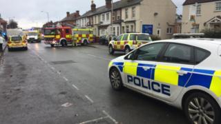 The scene at Oxford road