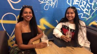 Students Sienna Sooknanan and Kashaa Srikanthan
