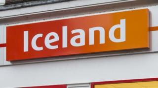 Iceland supermarket sign