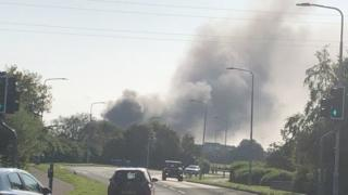 Fire at Woodmill High School in Dunfermline