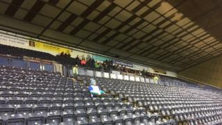 Peter was made to sit away from his fellow St Johnstone fans