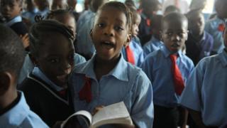 children wey dey sing