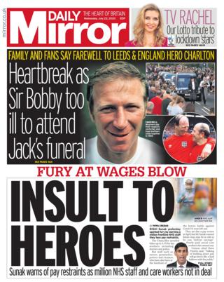 Daily Mirror 22 July 2020