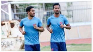 مسعود شجاعی و احسان حاجصفی دو فوتبالیست ملیپوش