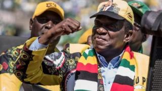 Emmerson Mnangagwa celebra sua vitória