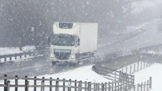 A66 in snow