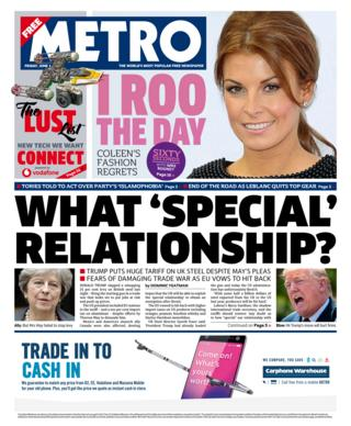 Metro front page - 01/06/18