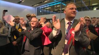 Labour celebrate in Trafford