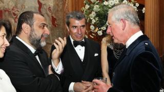 Ruben Vardanyan, left, meeting Prince Charles