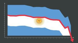 Ilustración con bandera argentina