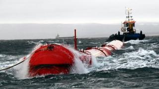 Pelamis wave generation device