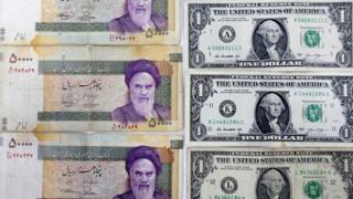 دولار أمريكي وعملة إيران