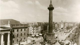 A postcard of Nelson's Pillar, from the 1930s