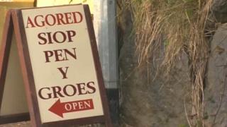 Shop in Welsh-speaking area