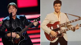 Sir Cliff Richard and Elvis Presley