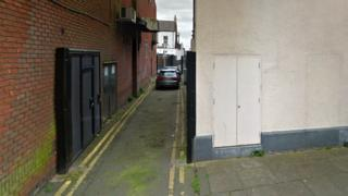 Rear of York Road, Hartlepool, between the junctions with Lucan Street and Middleton Grange Lane.