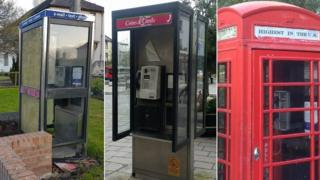 Phone boxes in Cumnock, Dumfries and Cairngorm