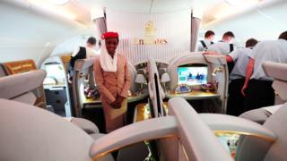 Cabina de Emirates
