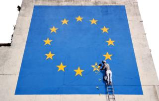 EU work believed to be by Banksy