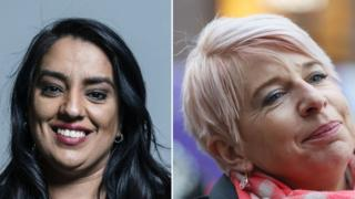Naz Shah and Katie Hopkins