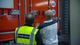 Lorry checked at border
