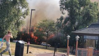 The fire at Canvey Island