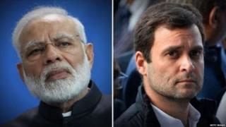 प्रधानमंत्री नरेंद्र मोदी और कांग्रेस अध्यक्ष राहुल गांधी