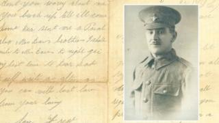 Private Frederick James Davies and one of his letters