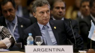 Argentina's President Macri attends a session of the Summit of Heads of State of MERCOSUR and Associated States and 49th Meeting of the Common Market Council in Luque