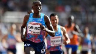 Timothy Cheruiyot termine premier aux 1.500m du meeting de la Ligue de diamant.