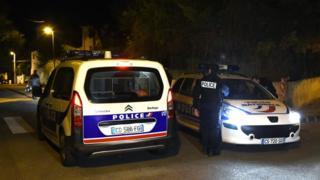 Police at scene of stabbing in French city of Marseille. 18 Nov 2015
