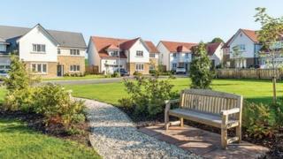 Cala Homes Kirk Green development in St Quivox, Ayrshire