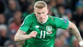 James McClean plays for the Republic of Ireland and Stoke City