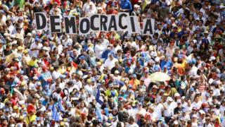 Protesto na Venezuela