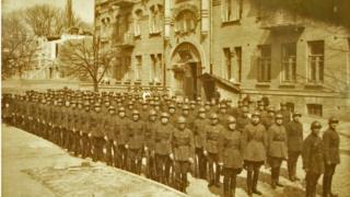 Личный состав киевского отряда НКВД в Липскому переулке